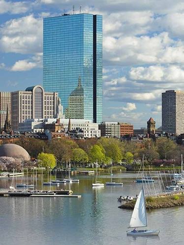 Boston skyline overlooking the Charles River