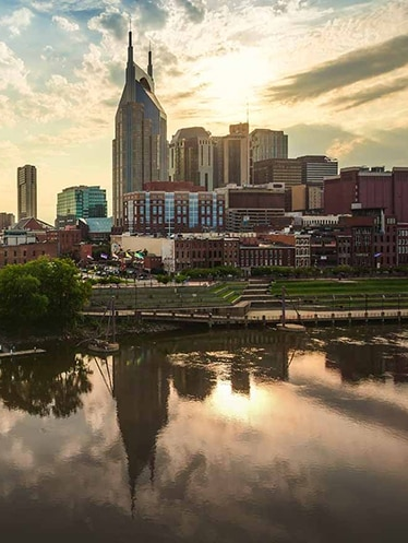 Nashville skyline overlooking the Cumberland River