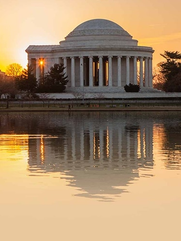 The Jefferson Memorial in the District of Columbia