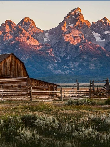 Grand Teton's Mormon Row at sunrise